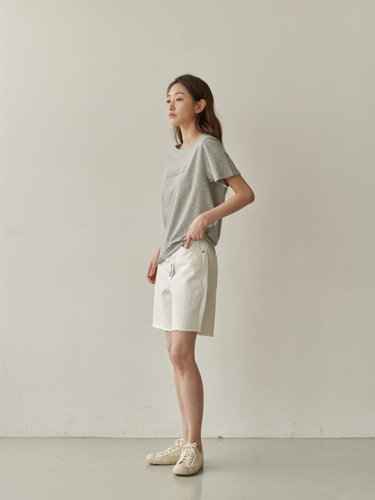 BRUNI - Korean Children Fashion - #Kfashion4kids - Half Corn Denim Shorts