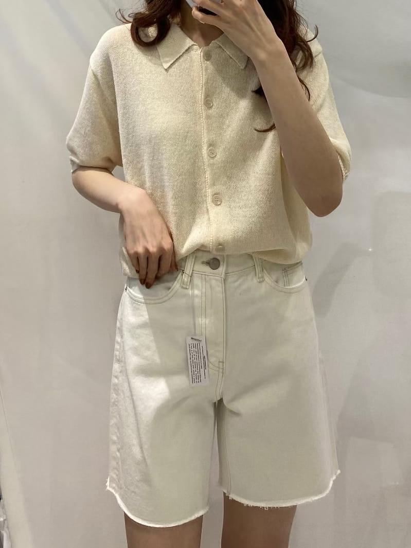 BRUNI - Korean Children Fashion - #Kfashion4kids - Half Corn Denim Shorts - 4