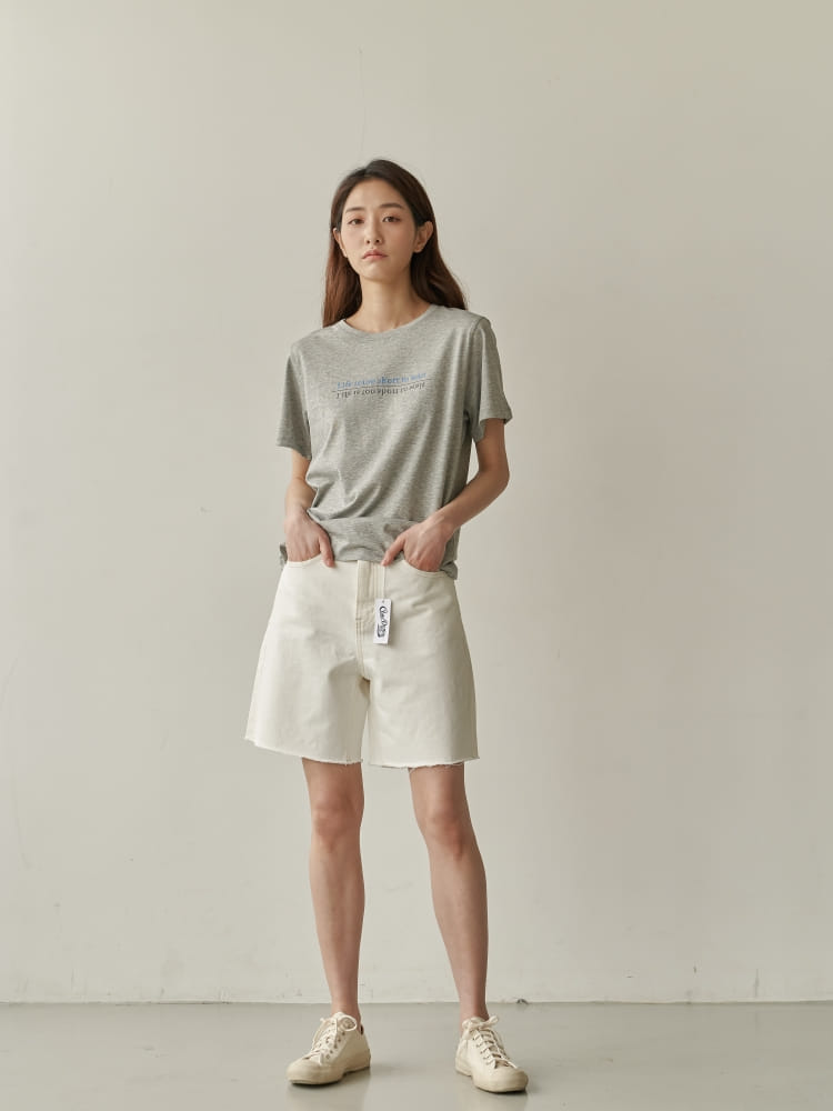 BRUNI - BRAND - Korean Children Fashion - #Kfashion4kids - Half Corn Denim Shorts