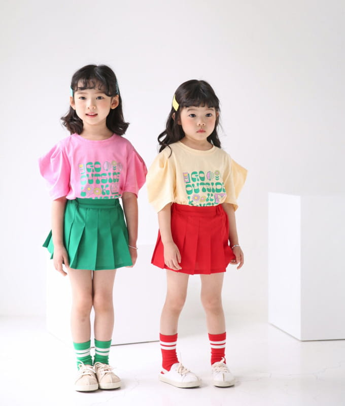 BUBBLE KISS - BRAND - Korean Children Fashion - #Kfashion4kids - Garden Puff Tee
