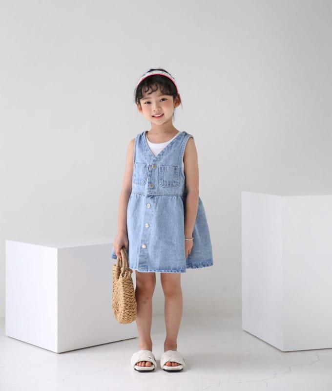BUBBLE KISS - BRAND - Korean Children Fashion - #Kfashion4kids - Denim One-piece
