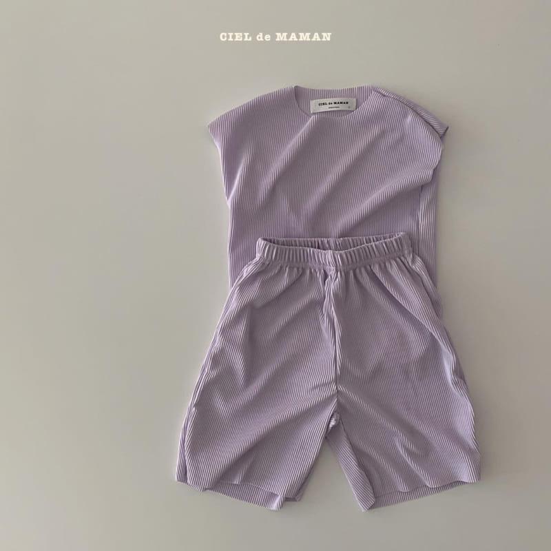 CIEL DE MAMAN - Korean Children Fashion - #Kfashion4kids - Mom Color Pleats Top Bottom Set - 11