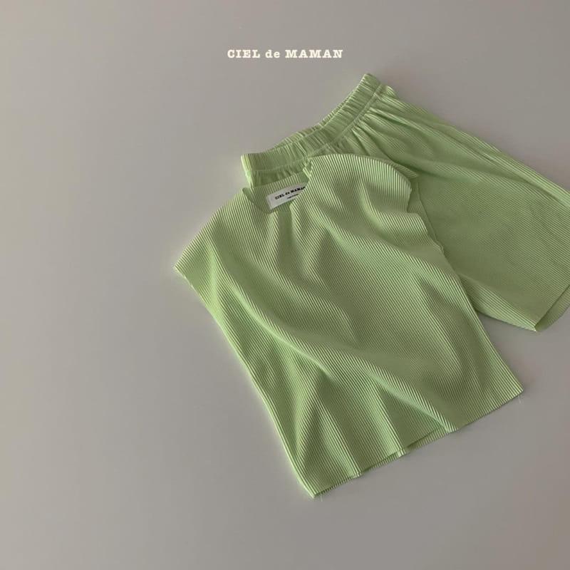 CIEL DE MAMAN - Korean Children Fashion - #Kfashion4kids - Mom Color Pleats Top Bottom Set - 12