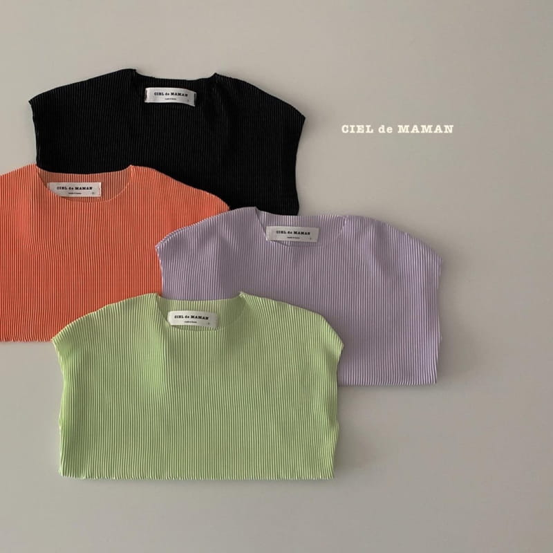 CIEL DE MAMAN - Korean Children Fashion - #Kfashion4kids - Mom Color Pleats Top Bottom Set - 3