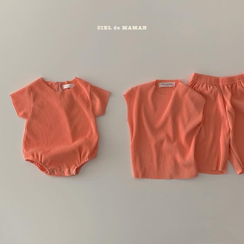 CIEL DE MAMAN - Korean Children Fashion - #Kfashion4kids - Mom Color Pleats Top Bottom Set - 8