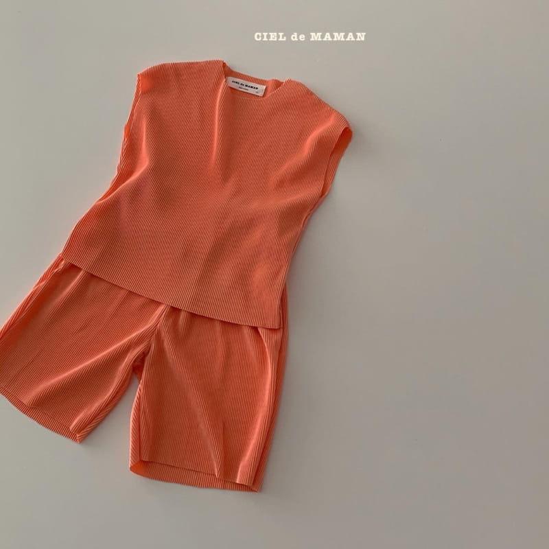 CIEL DE MAMAN - Korean Children Fashion - #Kfashion4kids - Mom Color Pleats Top Bottom Set - 9