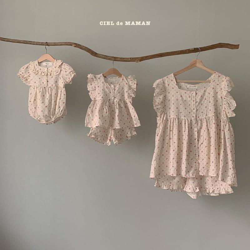 CIEL DE MAMAN - Korean Children Fashion - #Kfashion4kids - Mom Flower Top Bottom Set - 10