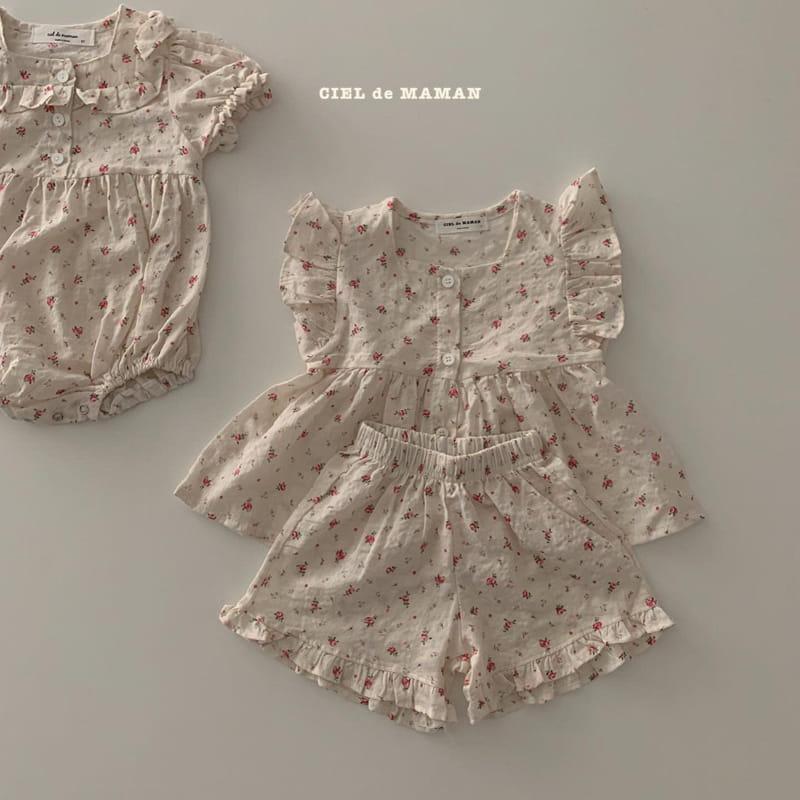 CIEL DE MAMAN - Korean Children Fashion - #Kfashion4kids - Mom Flower Top Bottom Set - 11