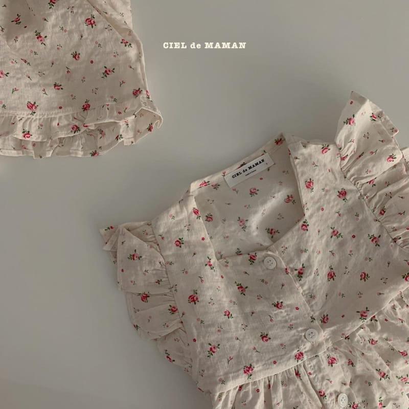 CIEL DE MAMAN - Korean Children Fashion - #Kfashion4kids - Mom Flower Top Bottom Set - 12