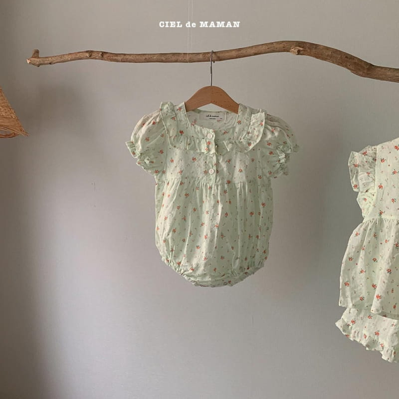 CIEL DE MAMAN - Korean Children Fashion - #Kfashion4kids - Mom Flower Top Bottom Set - 3