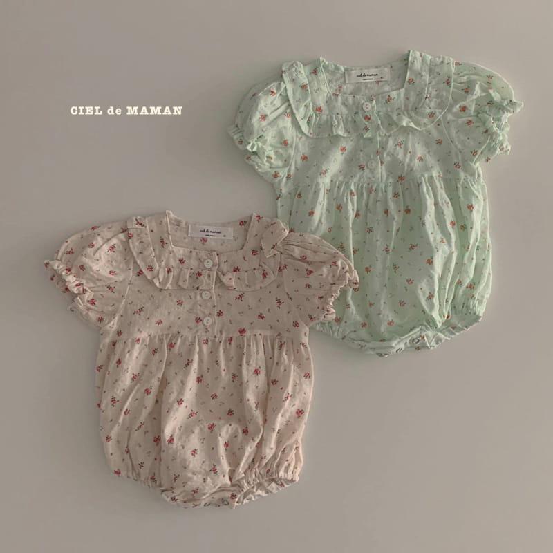 CIEL DE MAMAN - Korean Children Fashion - #Kfashion4kids - Mom Flower Top Bottom Set - 6
