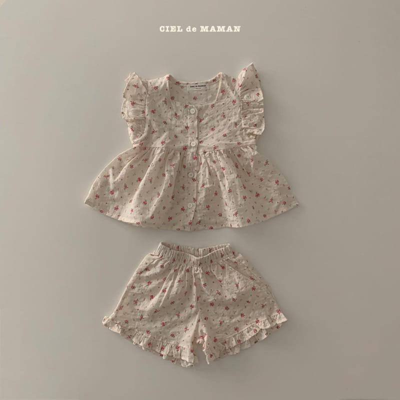 CIEL DE MAMAN - Korean Children Fashion - #Kfashion4kids - Mom Flower Top Bottom Set - 7