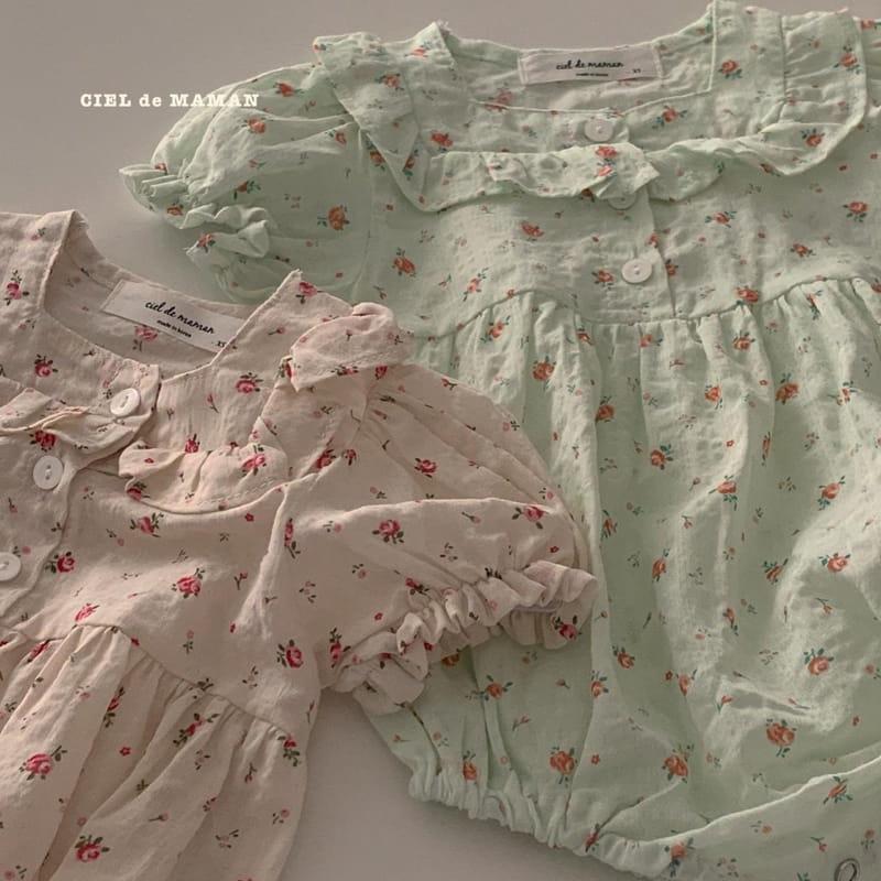 CIEL DE MAMAN - Korean Children Fashion - #Kfashion4kids - Mom Flower Top Bottom Set - 9