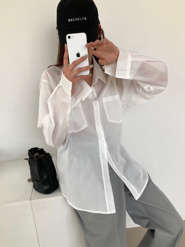 COCOJNISSI - Korean Children Fashion - #Kfashion4kids - Mashell Pocket Asa Cotton Shirt
