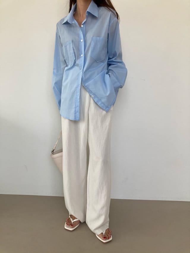 COCOJNISSI - Korean Children Fashion - #Kfashion4kids - Mashell Pocket Asa Cotton Shirt - 3