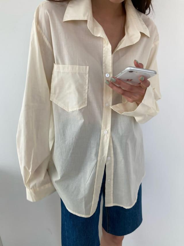 COCOJNISSI - Korean Children Fashion - #Kfashion4kids - Mashell Pocket Asa Cotton Shirt - 4