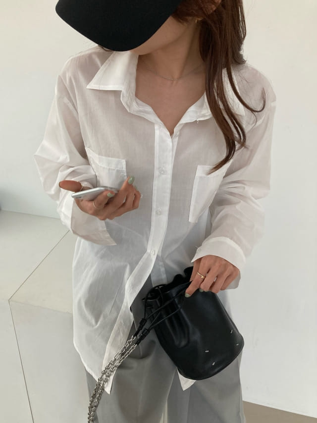 COCOJNISSI - BRAND - Korean Children Fashion - #Kfashion4kids - Mashell Pocket Asa Cotton Shirt
