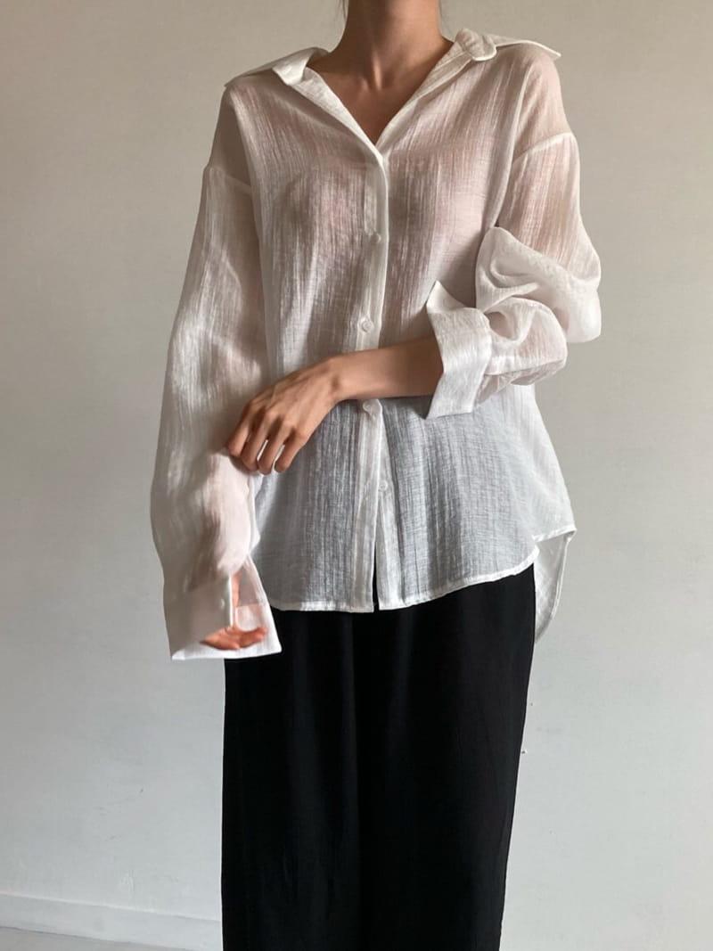 COCOJNISSI - Korean Children Fashion - #Kfashion4kids - Blair Back Slit See Through shirt - 4