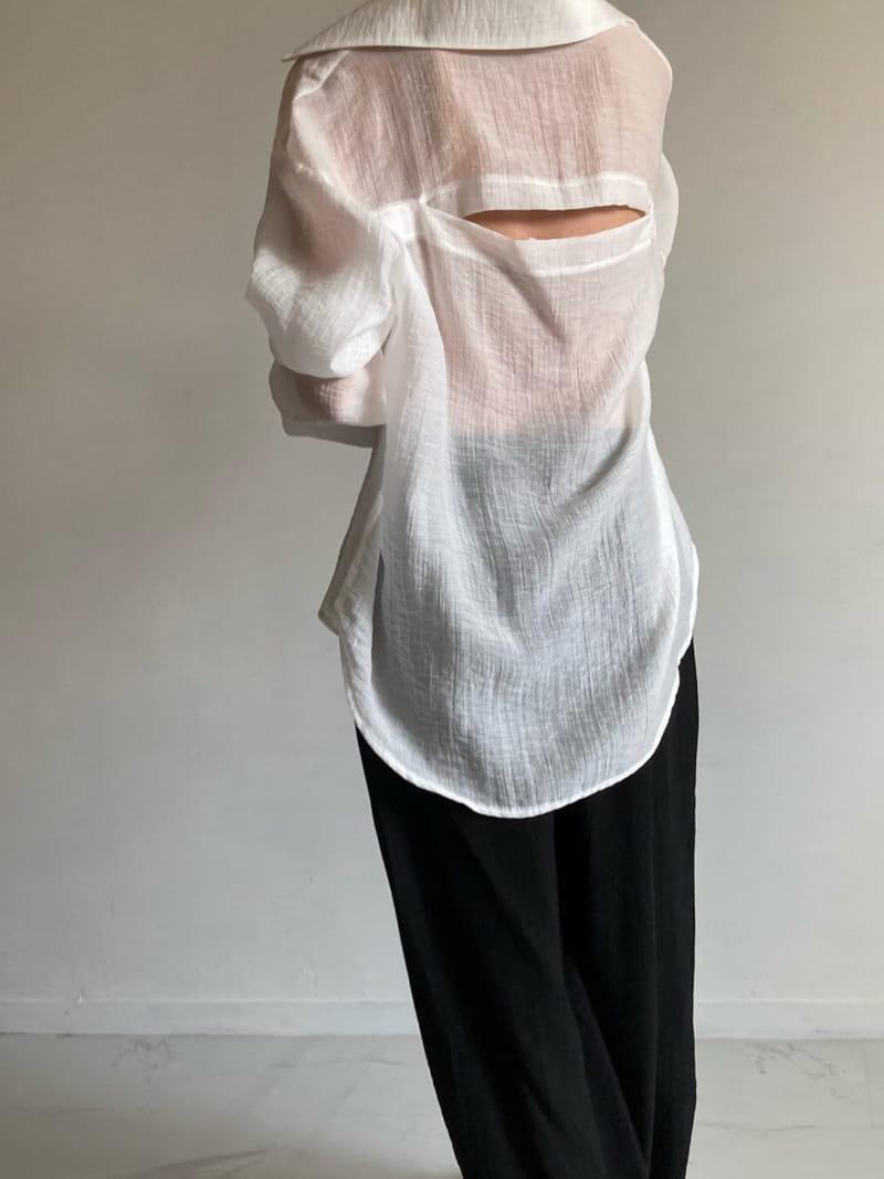 COCOJNISSI - BRAND - Korean Children Fashion - #Kfashion4kids - Blair Back Slit See Through shirt