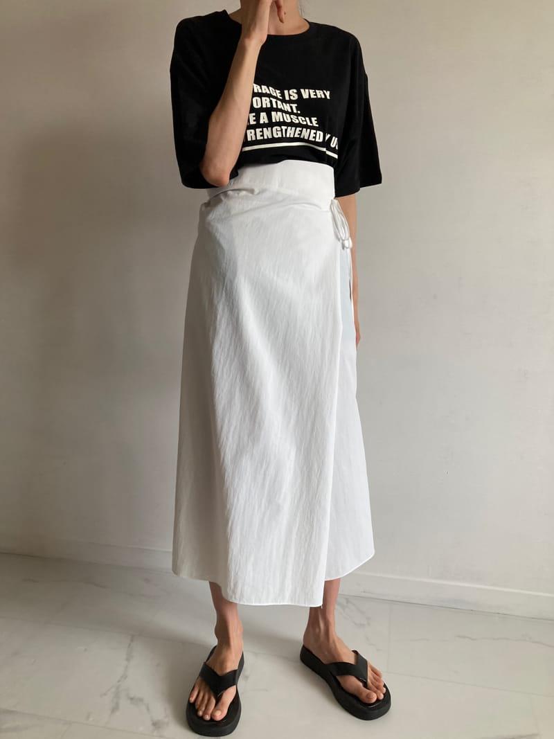 COCOJNISSI - Korean Children Fashion - #Kfashion4kids - Sendo Wrap Crunch Skirt