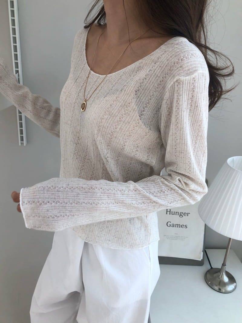 COCOJNISSI - Korean Children Fashion - #Kfashion4kids - Scsi Linen Knit Tee