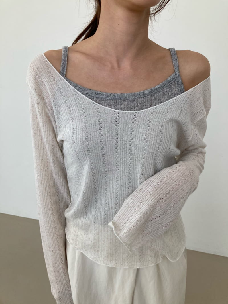 COCOJNISSI - Korean Children Fashion - #Kfashion4kids - Scsi Linen Knit Tee - 2