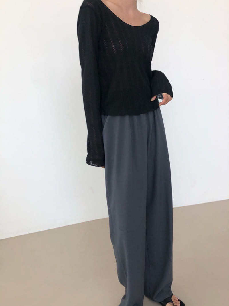 COCOJNISSI - Korean Children Fashion - #Kfashion4kids - Scsi Linen Knit Tee - 3