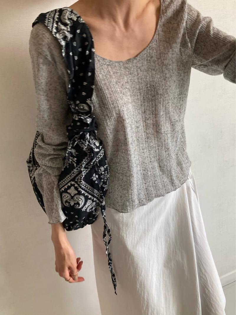 COCOJNISSI - BRAND - Korean Children Fashion - #Kfashion4kids - Scsi Linen Knit Tee