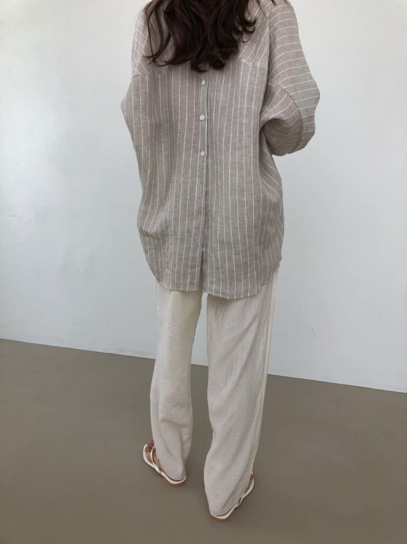 COCOJNISSI - Korean Children Fashion - #Kfashion4kids - Still Linen Stripes Shirt