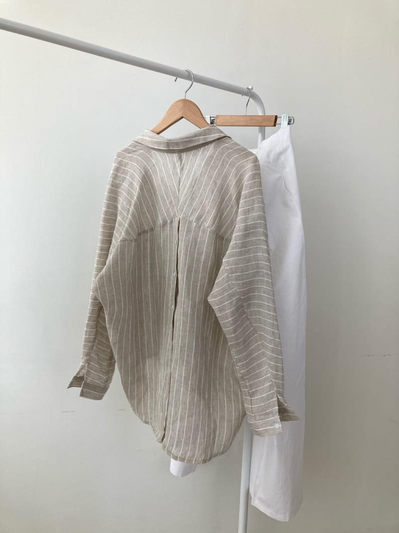 COCOJNISSI - Korean Children Fashion - #Kfashion4kids - Still Linen Stripes Shirt - 2