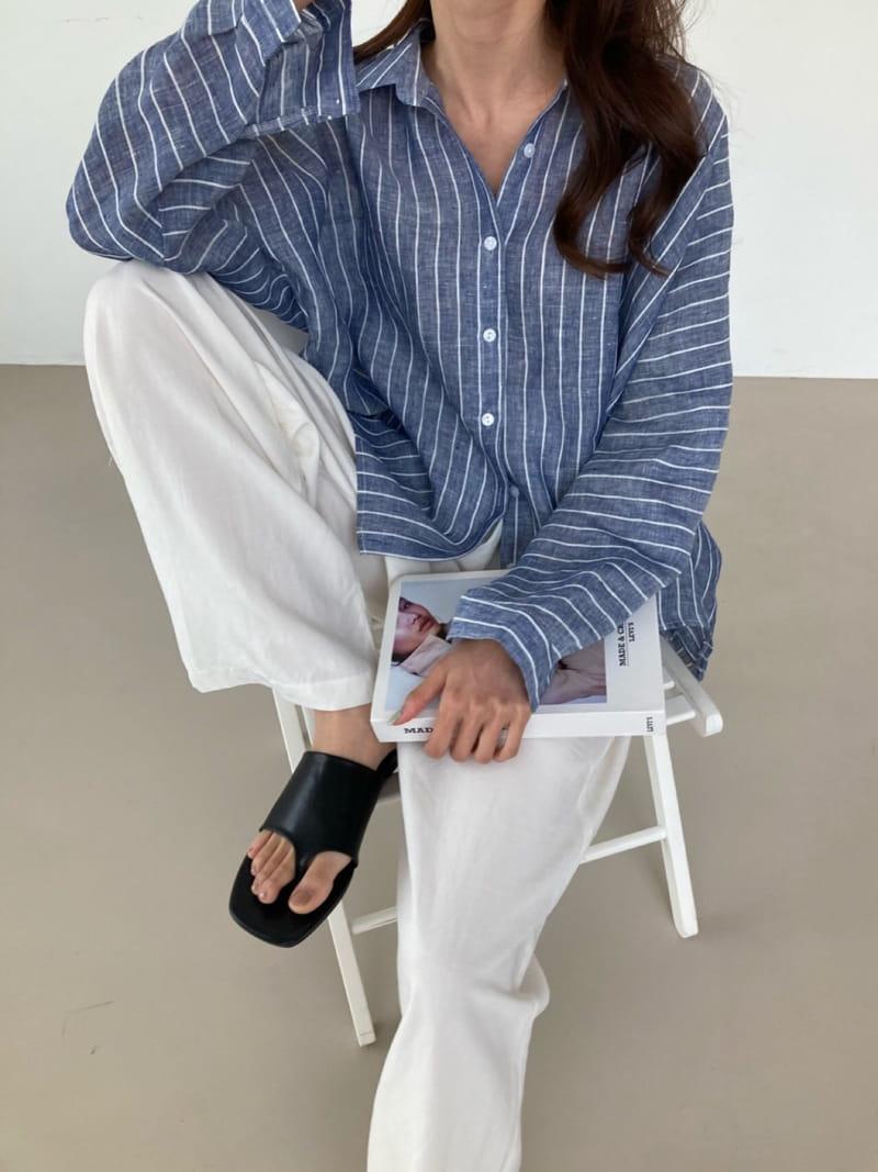 COCOJNISSI - Korean Children Fashion - #Kfashion4kids - Still Linen Stripes Shirt - 4