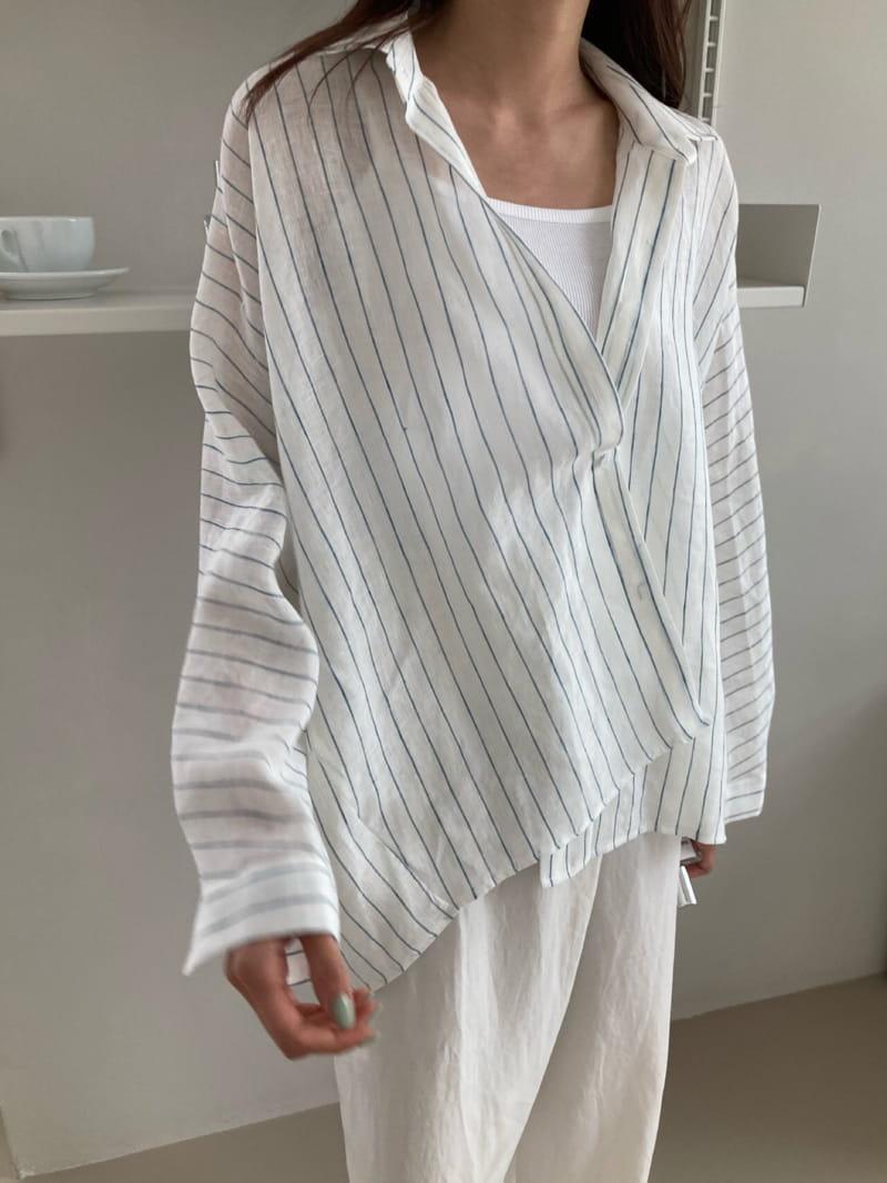 COCOJNISSI - BRAND - Korean Children Fashion - #Kfashion4kids - Still Linen Stripes Shirt