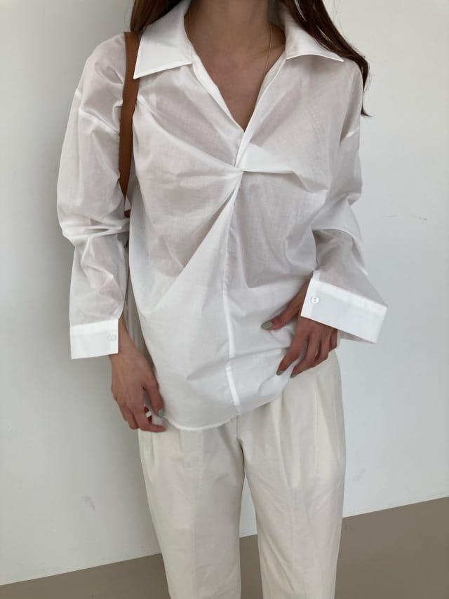 COCOJNISSI - Korean Children Fashion - #Kfashion4kids - Flory Twist Shirt - 3