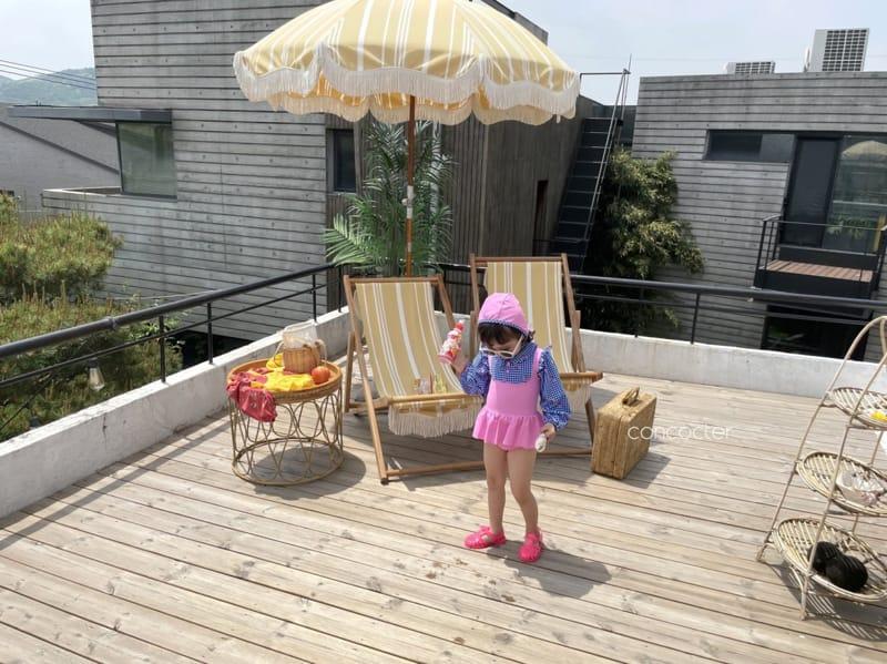 CONCOCTER - Korean Children Fashion - #Kfashion4kids - Bean Button One-piece Swimwear - 10