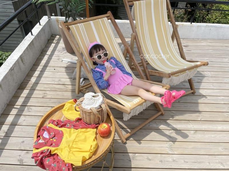 CONCOCTER - Korean Children Fashion - #Kfashion4kids - Bean Button One-piece Swimwear - 11