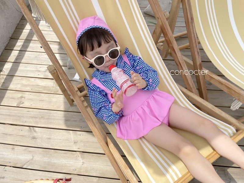 CONCOCTER - Korean Children Fashion - #Kfashion4kids - Bean Button One-piece Swimwear - 12