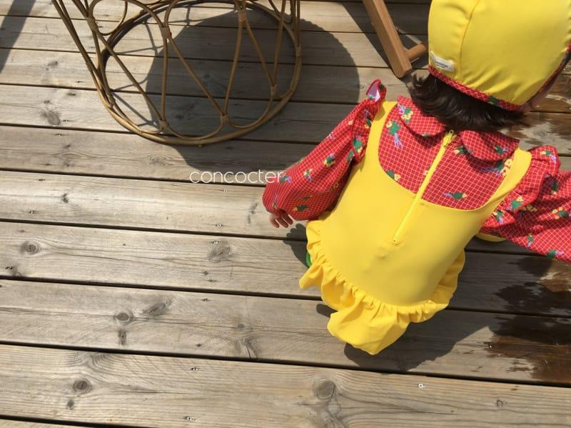CONCOCTER - Korean Children Fashion - #Kfashion4kids - Bean Button One-piece Swimwear - 4