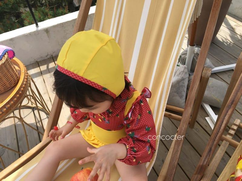 CONCOCTER - Korean Children Fashion - #Kfashion4kids - Bean Button One-piece Swimwear - 5