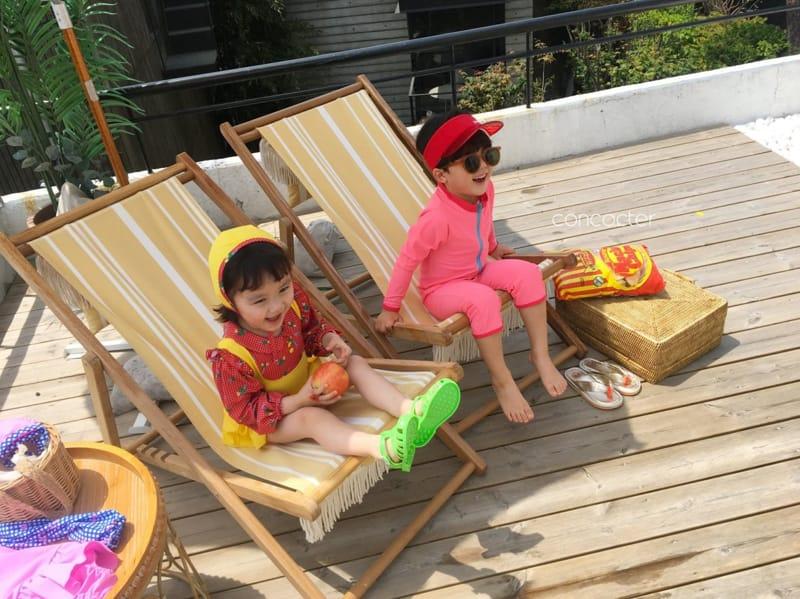 CONCOCTER - Korean Children Fashion - #Kfashion4kids - Bean Button One-piece Swimwear - 7