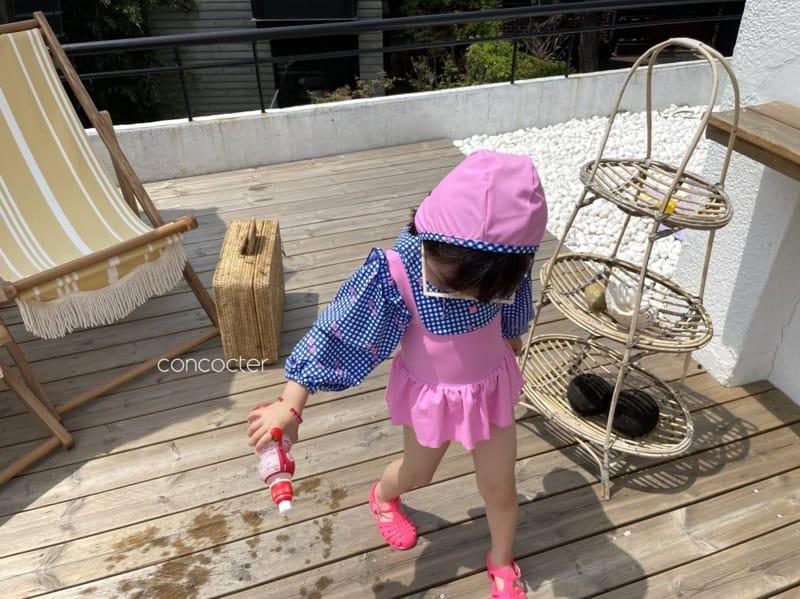 CONCOCTER - Korean Children Fashion - #Kfashion4kids - Bean Button One-piece Swimwear - 8
