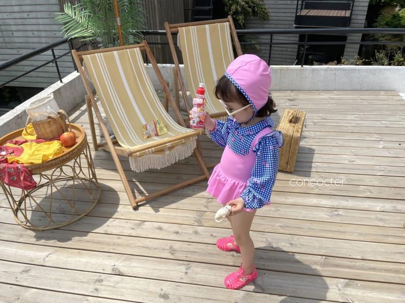 CONCOCTER - Korean Children Fashion - #Kfashion4kids - Bean Button One-piece Swimwear - 9