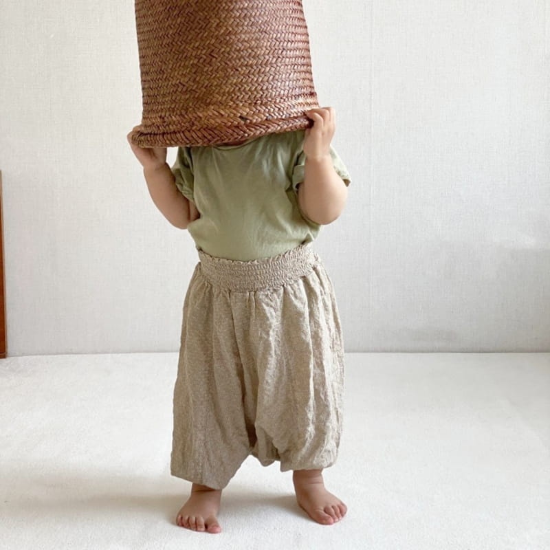 GURU GURU - Korean Children Fashion - #Kfashion4kids - Smocked Big Baggy Pants