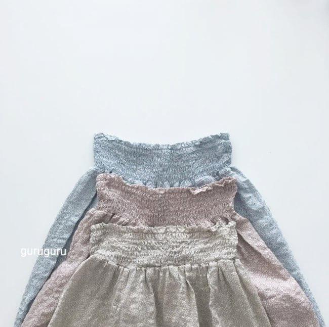 GURU GURU - Korean Children Fashion - #Kfashion4kids - Smocked Big Baggy Pants - 3
