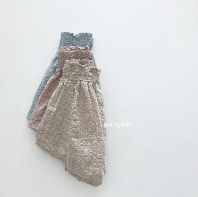 GURU GURU - Korean Children Fashion - #Kfashion4kids - Smocked Big Baggy Pants - 4