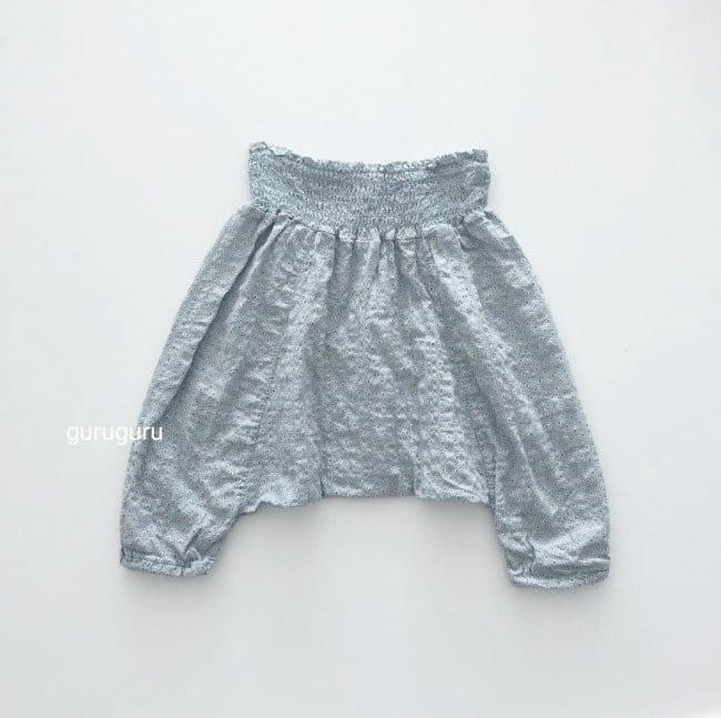 GURU GURU - Korean Children Fashion - #Kfashion4kids - Smocked Big Baggy Pants - 5
