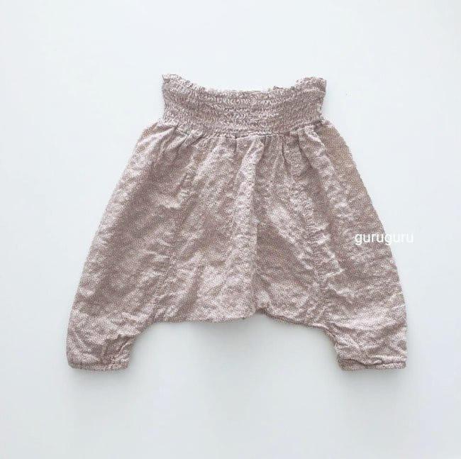 GURU GURU - Korean Children Fashion - #Kfashion4kids - Smocked Big Baggy Pants - 6