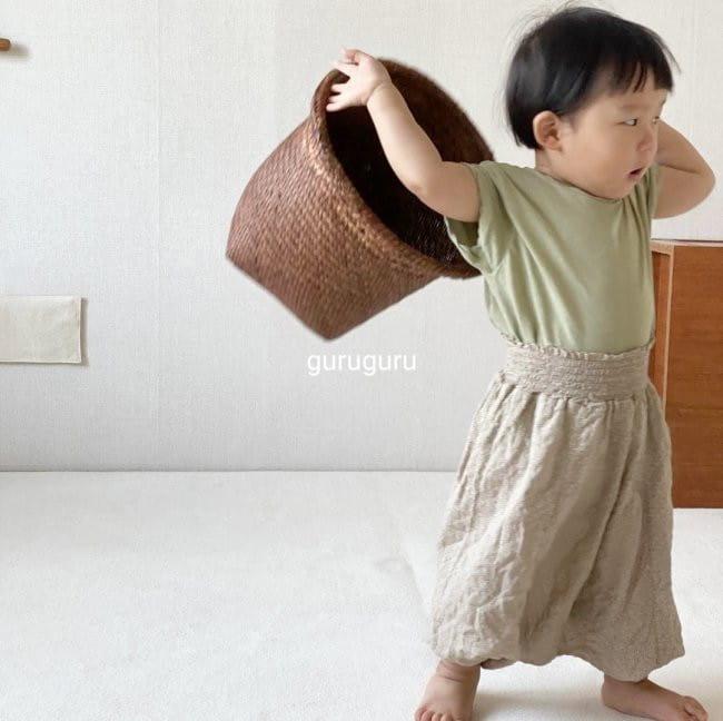 GURU GURU - Korean Children Fashion - #Kfashion4kids - Smocked Big Baggy Pants - 8