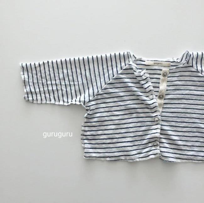 GURU GURU - Korean Children Fashion - #Kfashion4kids - Stripes Top Bottom Set - 6