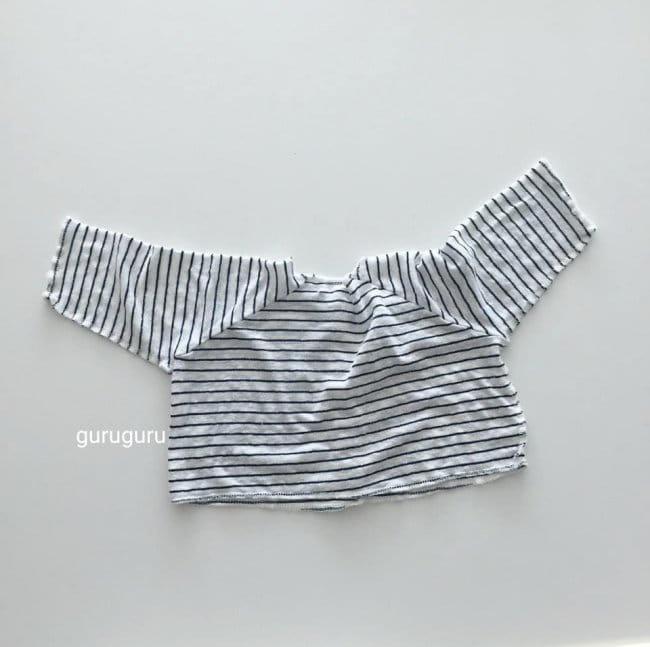 GURU GURU - Korean Children Fashion - #Kfashion4kids - Stripes Top Bottom Set - 7