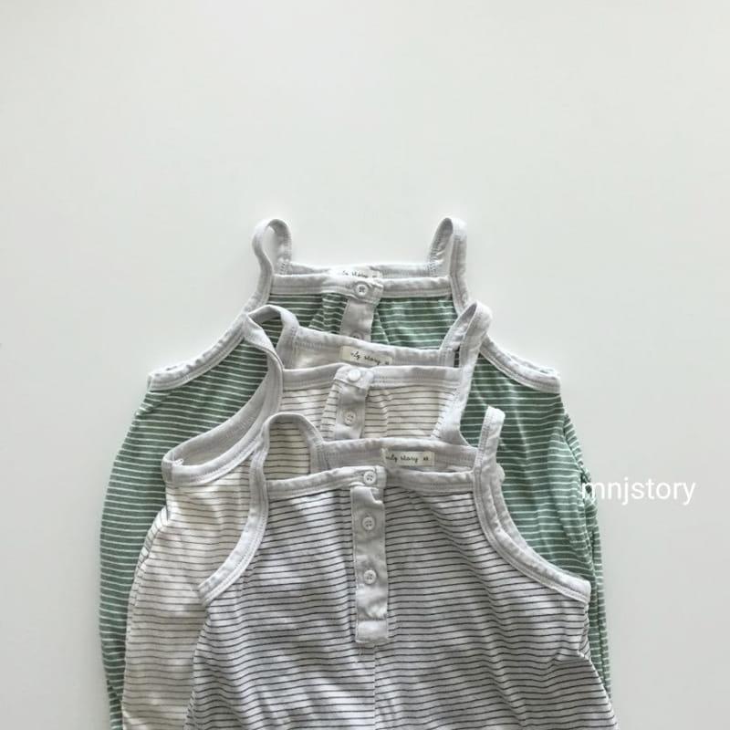 GURU GURU - Korean Children Fashion - #Kfashion4kids - Stripes Dungarees